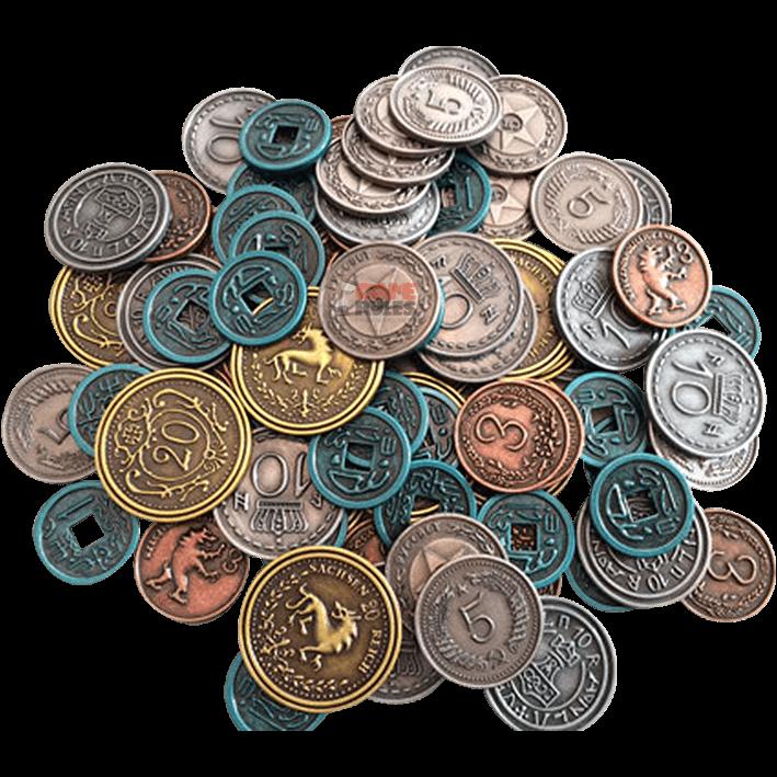 SCYTHE - Monete in Metallo 10$ blu